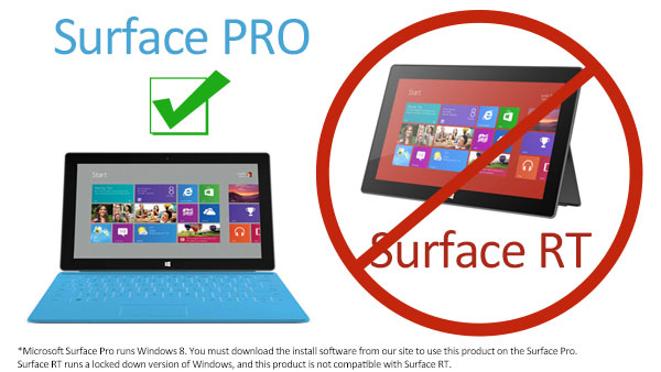 compatible with Surface Pro, not Surface RT